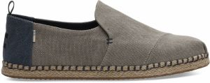 Toms Grey Washed Canvas Alpargata tenisky