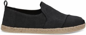 Toms Black Washed Canvas Alpargata tenisky