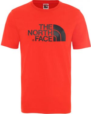 The North Face M S/S Easy Tee - Eu Fiery Red/Tnf Black
