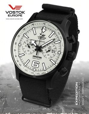 8d0e207b7 Vostok Europe Expedition North Pole 1 Chrono Line 6S21/5954200 textil