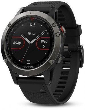 Garmin fenix5 Gray Optic TRI Performer, Black band