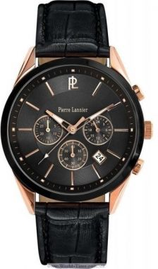 PIERRE LANNIER model Black Leather 290C033