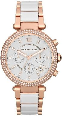Michael Kors Parker Rose Gold-Tone White Acetate MK5774