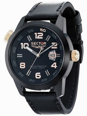 Hodinky SECTOR NO LIMITS Action Oversize,  Black PVD R3251202025
