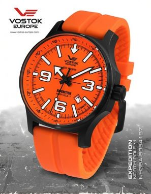 Vostok Europe Expedition North Pole 1 Automatic Line NH35A/5954197 silikón orange