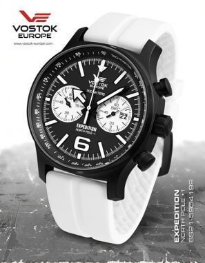 Vostok Europe Expedition North Pole 1 Chrono Line 6S21/5954199 silikón white