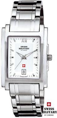 SWISS Military Date SQUARE 20005 ST-2M