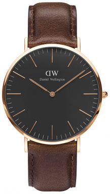 Daniel Wellington Classic Black Bristol Rose Gold DW00100125