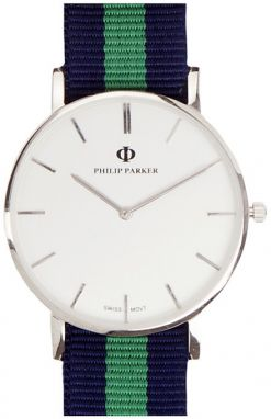 Hodinky PHILIP PARKER Navy Baltimore PPNY008S1