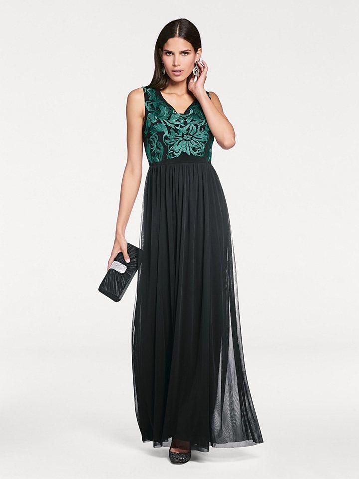 ASHLEY BROOKE by heine Večerné šaty s výšivkou Ashley Brooke by heine  čierna-zelená - N-veľkost 34 značky Ashley brooke by heine - Lovely.sk ad5c76d0641