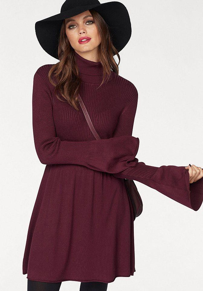 d60bbe2b1d3b Vero Moda Vero Moda Pletené šaty »NORWALK« bordová - N-veľkost XS (34)  značky Vero Moda - Lovely.sk