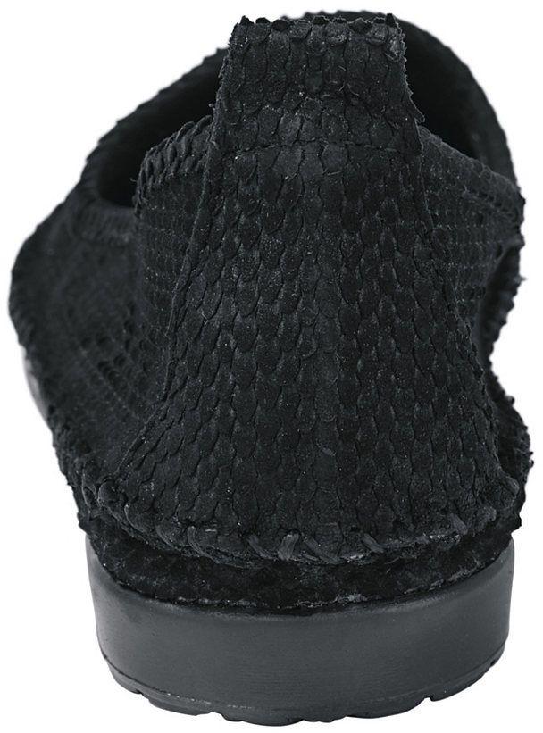 9a8c141289c8b Andrea Conti Nazúvacie topánky, hadí vzhľad cez vyrezávaný efekt Andrea  Conti