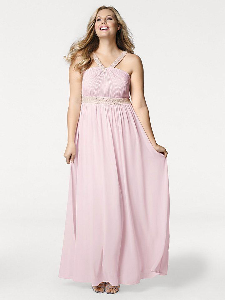 d3cc2b69e1c9 ASHLEY BROOKE by heine Večerné šaty s plisovanými vsadkami Heine timeless  ružová - krátka veľkosť 23 značky Heine timeless - Lovely.sk