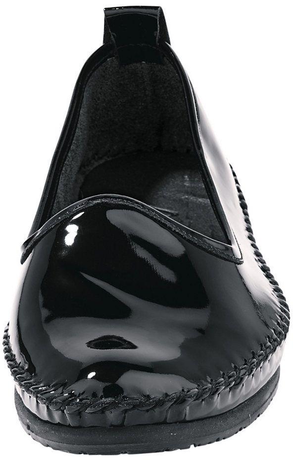 6286cf43e47d7 Andrea Conti Nazúvacie topánky z lesklej, hovädzej lakovanej kože Andrea  Conti