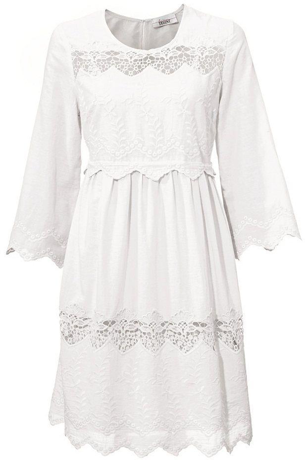 a3d1018a595d LINEA TESINI by heine Čipkované šaty Linea Tesini by heine vlnená biela 40