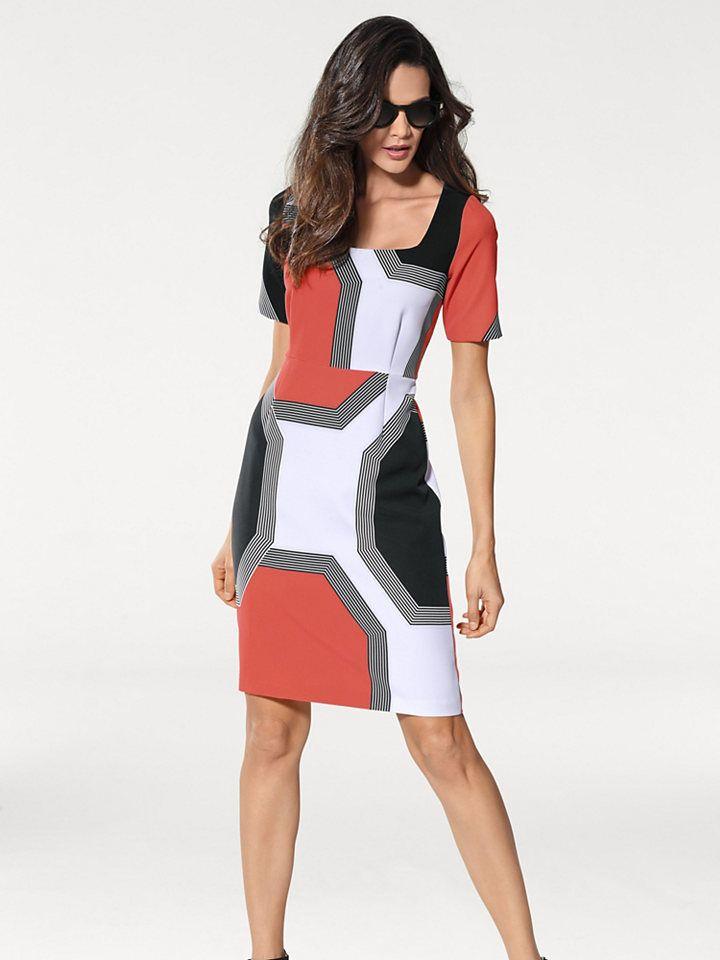 ASHLEY BROOKE by heine Formujúce šaty s potlačou Heine timeless  korálová-čierna 40 značky Heine timeless - Lovely.sk c28f2a7eff0