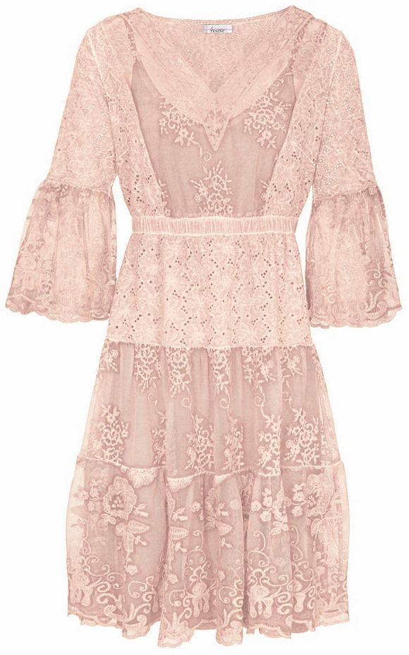 8f8289e49a61 LINEA TESINI by heine Čipkované šaty Heine casual ružová 46 značky ...