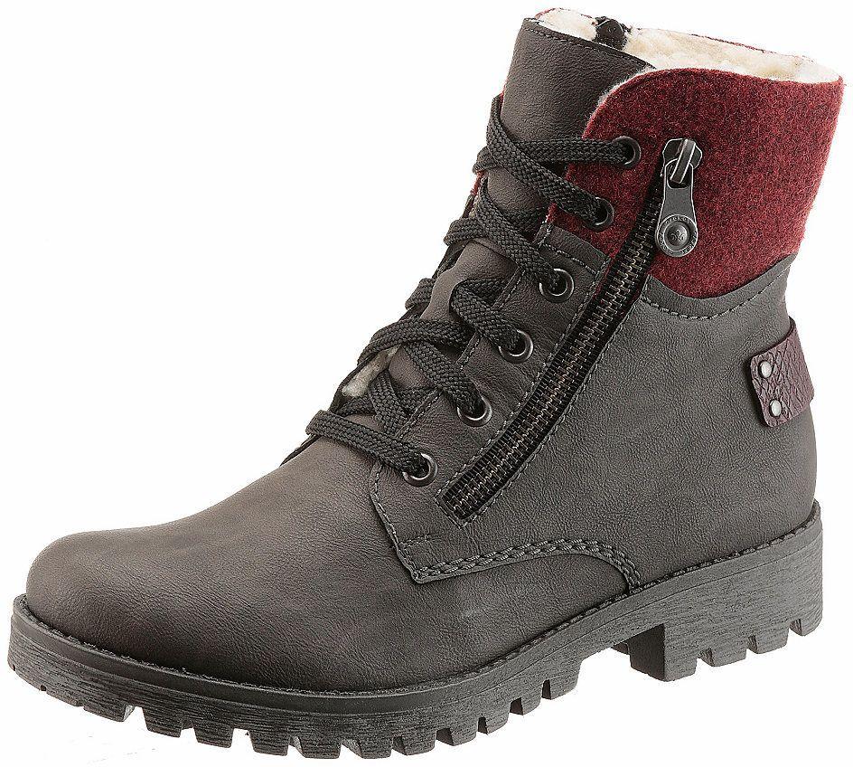 6e3597cf3 Rieker Zateplená obuv vysoká Rieker sivá-bordová - EURO veľkosti 42 značky  RIEKER - Lovely.sk