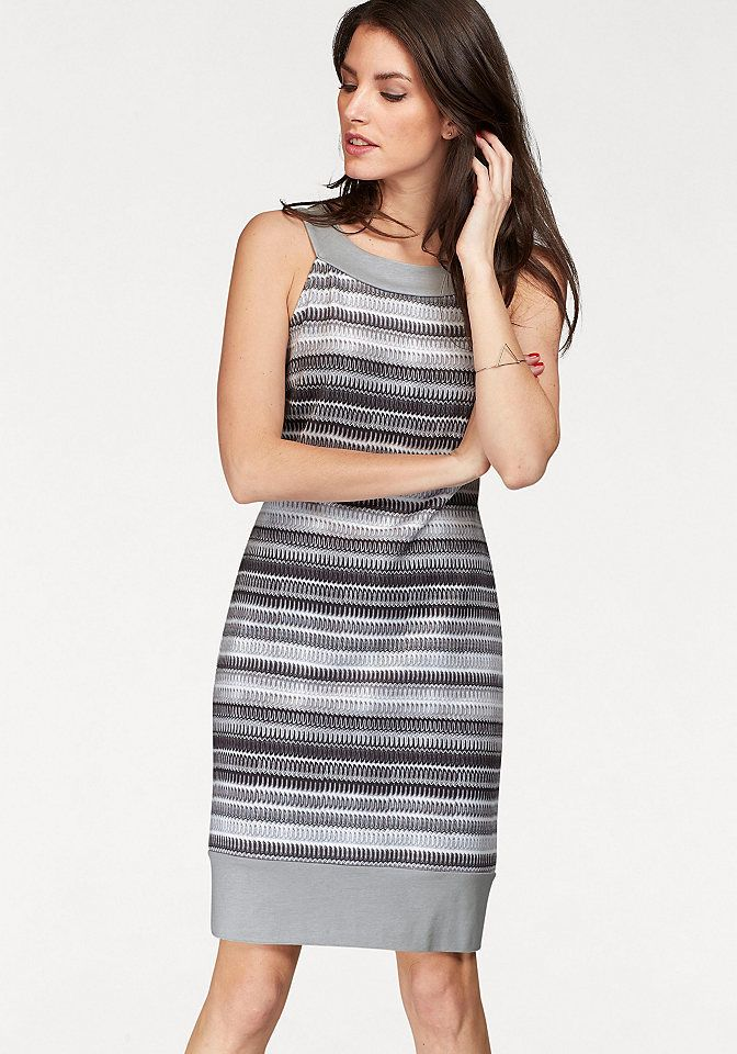 Vivance Puzdrové šaty Vivance sivá-čierna-biela - N-veľkost 44 značky  VIVANCE - Lovely.sk 69d854e5858