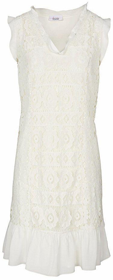 ef330f8724fc LINEA TESINI by heine Čipkované šaty s flitrami Heine casual béžová 40  značky Heine casual - Lovely.sk
