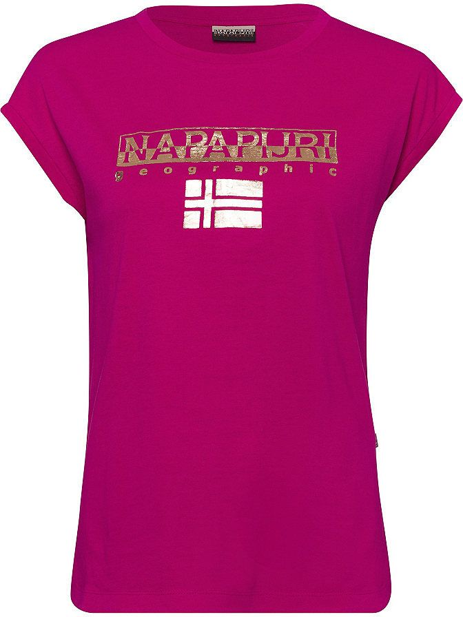 Napapijri Tričko s potlačou Napapijri fuksiová - N-veľkost XL (44 ... 249aa81872a