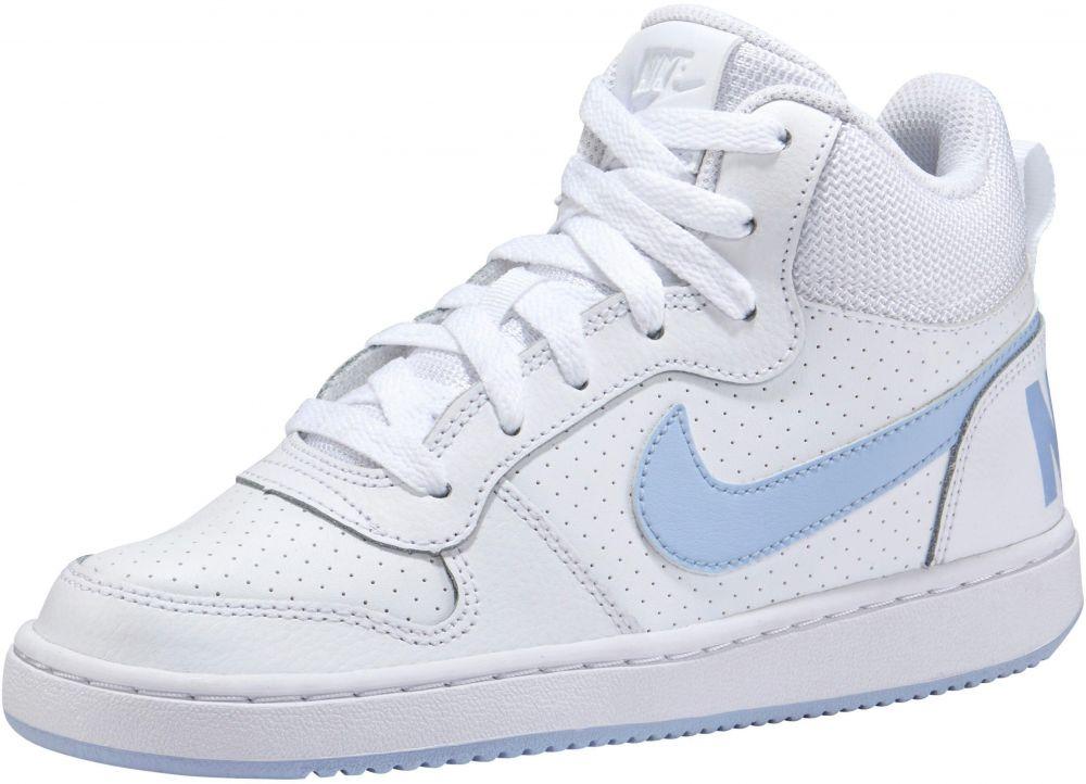 Nike Sportswear Tenisky »Court Borough Mid U« Nike Sportswear biela-modrá -  EURO veľkosti 35 48a93e687e3