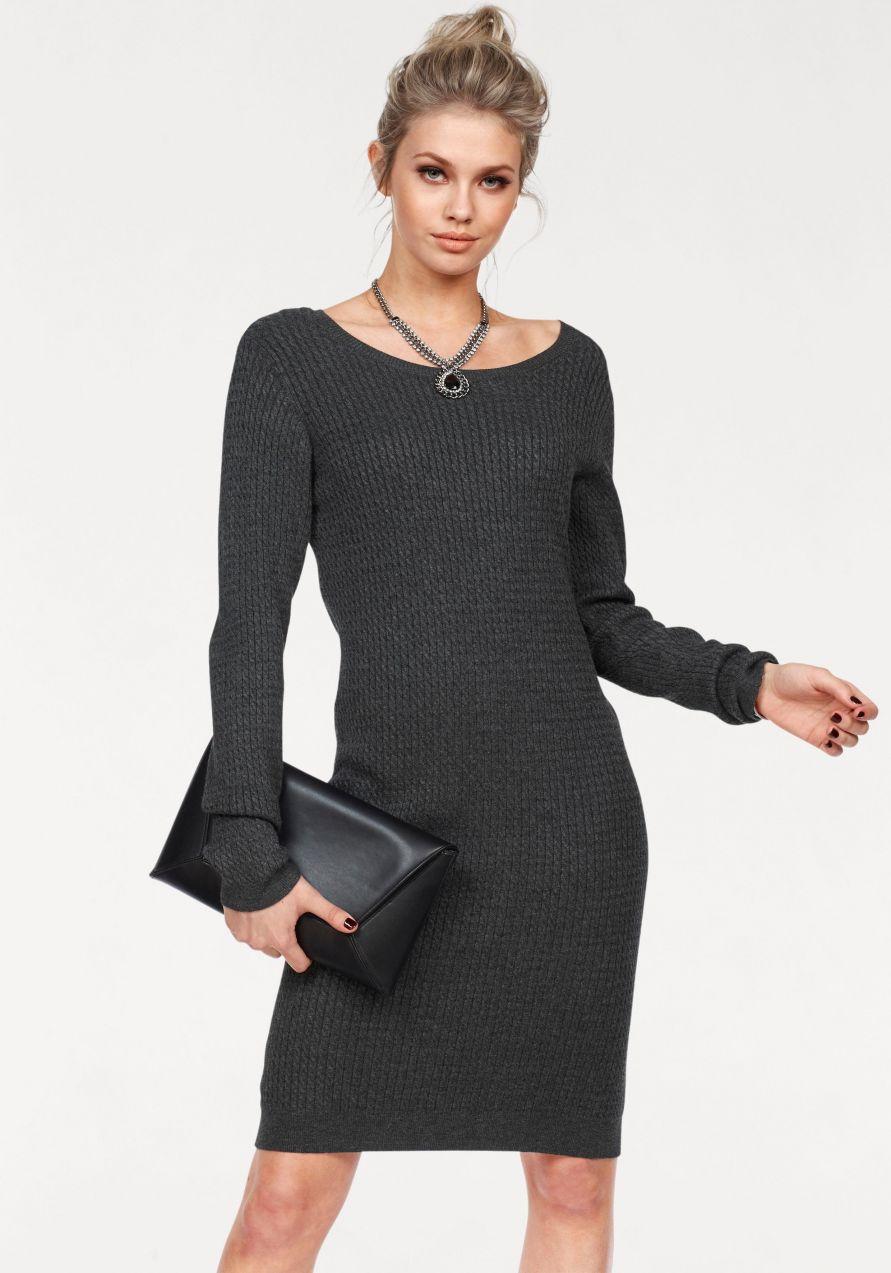 a1a5ae9f0202 Vero Moda Pletené šaty »GLORY NINKA« Vero Moda antracitová-melírovaná -  N-veľkost M (38) značky Vero Moda - Lovely.sk