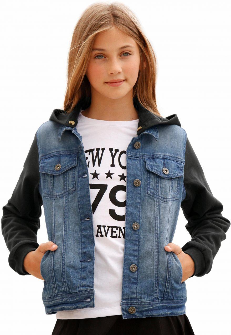 7004fb116fbe Arizona Džínsová bunda s rukávmi a kapucňou z bavlny