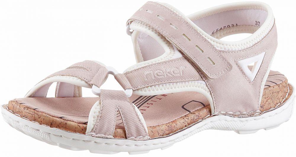 82291ec7a1a8 Rieker Pásikavé sandále Rieker ružová-vlnená biela - EURO veľkosti 37  značky RIEKER - Lovely.sk