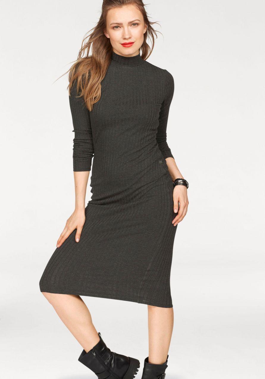 ef5e2742eed6 G-Star RAW Pletené šaty »Xinva slim funnel dress wmn l s« G-star raw ...