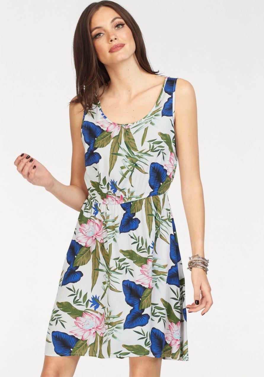 Only Letné šaty »NOVA« Only koralová-potlač - N-veľkost 34 značky ONLY -  Lovely.sk 20551adfd36