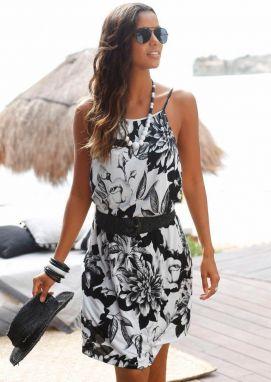 Plážové šaty značky BUFFALO s plagátovou kvetinovou potlačou ba5f1764a06