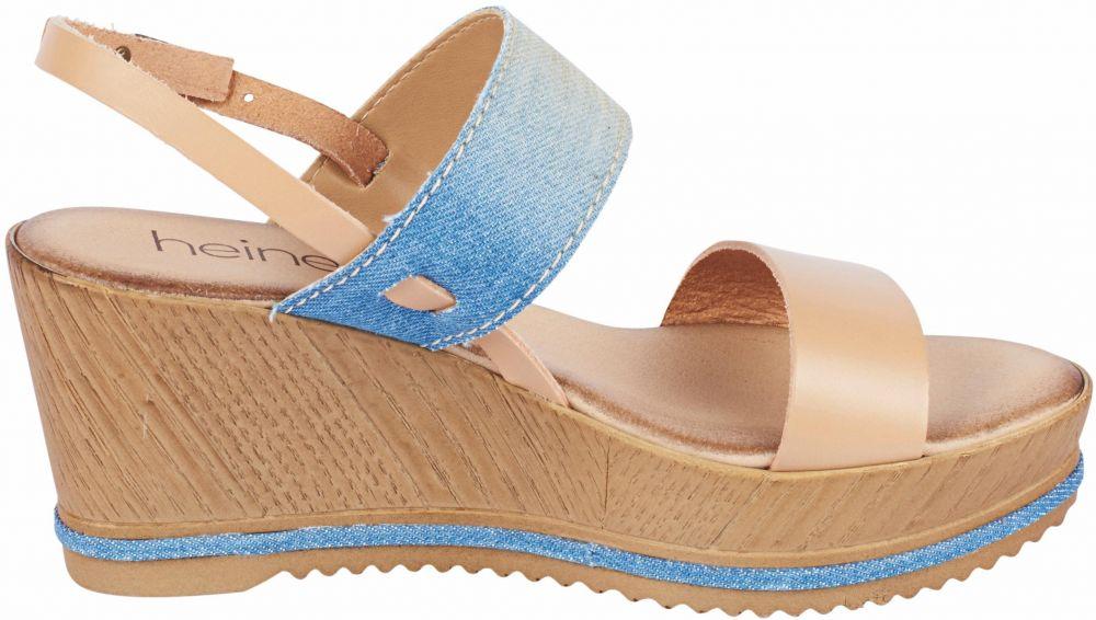 81e17e1b32da heine Sandále s vysokým podpätkom a platformou heine telová-riflová modrá  38 značky HEINE - Lovely.sk