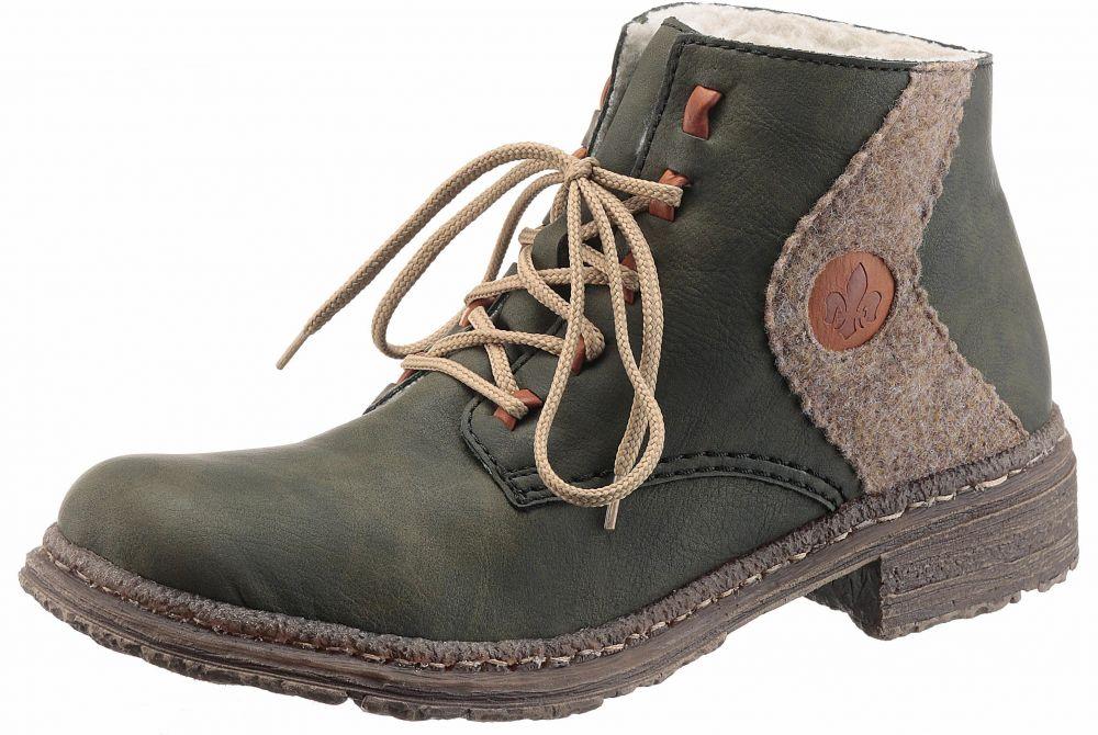 641be4e6b5d0 Rieker Zimná obuv Rieker olivová-béžová - EURO veľkosti 36 značky RIEKER -  Lovely.sk