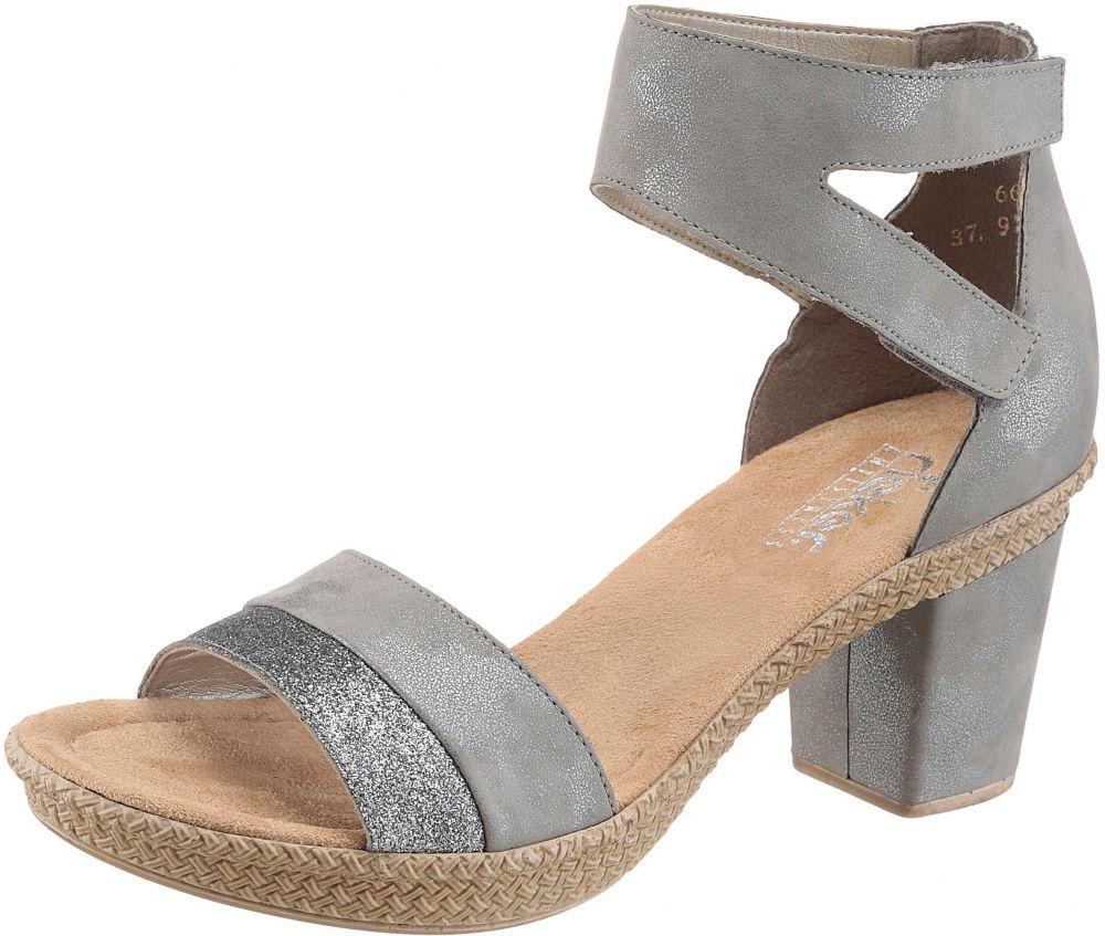 c8a6e481818d Rieker Sandále na platforme s trblietavými detailmi Rieker sivá-strieborná  - EURO veľkosti 36 značky RIEKER - Lovely.sk