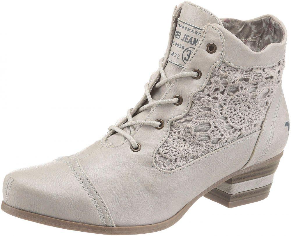 71e00745916d8 Krátke čižmy Mustang Shoes vlnená biela vyšúchaná - EURO veľkosti 39 značky MUSTANG  SHOES - Lovely.sk