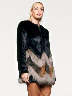 ffe7db702 Farebné bundy a kabáty z umelej kožušiny - Lovely.sk