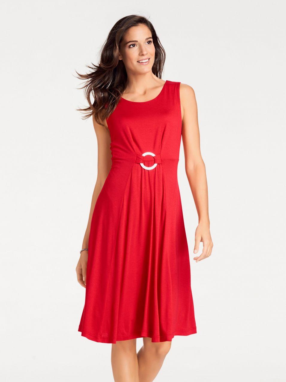 heine TIMELESS Džersejové šaty s ozdobným krúžkom heine značky HEINE ... 12164beed90