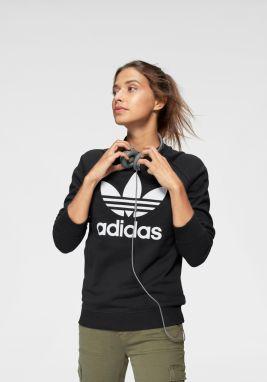 ce061f70abe Tmavomodrá dámska mikina s potlačou adidas Originals Trefoil Crew ...