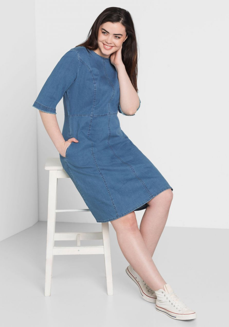 31277a35579d sheego Denim Riflové šaty sheego Denim značky SHEEGO DENIM - Lovely.sk