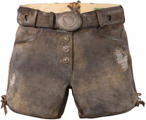 b07fd84dd5aa Country Line Krátke kožené nohavice dámske so srdcovou výšivkou  DEFAULT INVALID