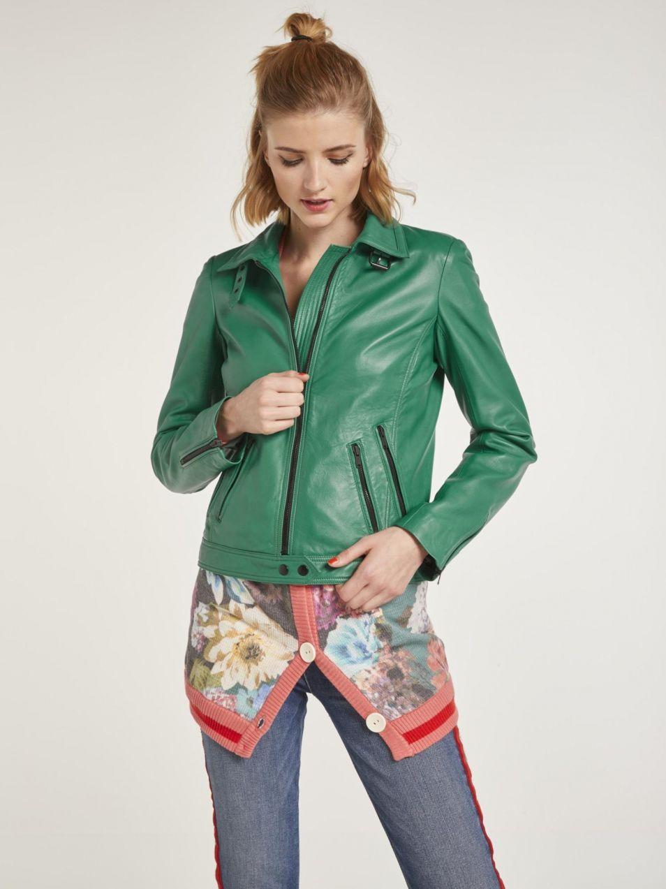heine STYLE Kožená bunda s kontrastnými detailmi heine značky HEINE -  Lovely.sk 273a586b6ee