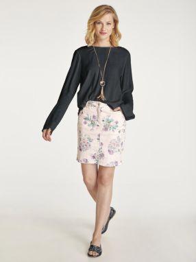3b540d19f540 heine CASUAL Vzorovaná sukňa z prepracovanej žakárovej tkaniny heine galéria