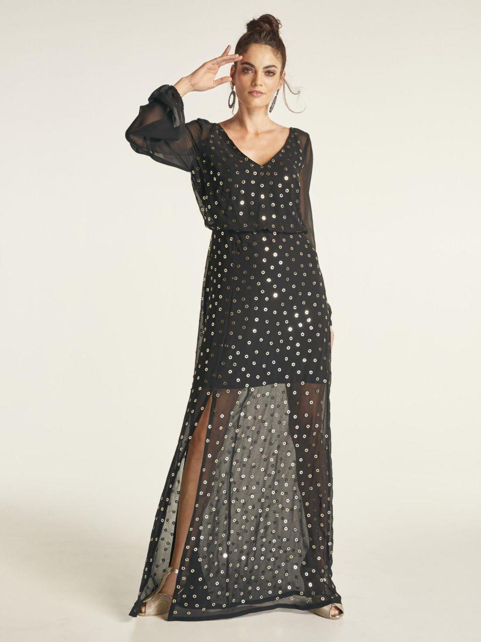 heine STYLE Večerné šaty s priehľadnou časťou heine značky HEINE ... e231e5de46a