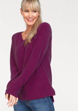 9434dc0d6019 Fialový dlhý vlnený sveter Selected Femme Rille značky Selected ...