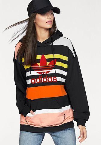 adidas Originals adidas Originals Mikina s kapucňou »TREFOIL HOODIE«  čierna-pestrá - N-veľkost 34 značky adidas Originals - Lovely.sk 4534006f644