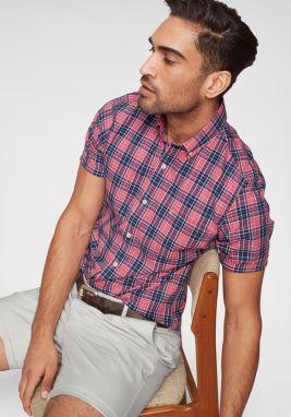cd8dd93fe641 Ružová košeľa bez goliera Burton Menswear London značky Burton ...