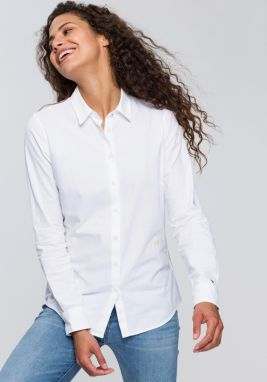 6d0249a02113 Biela dámska fitted košeľa Tommy Hilfiger Jenna značky Tommy ...