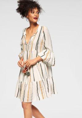 2701e764f7be Biele voľné košeľové šaty s dlhým rukávom VAVI značky VAVI - Lovely.sk