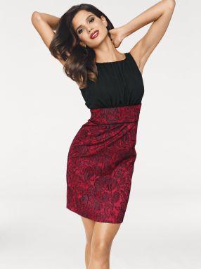 7e477b4e883e Červené bodkované šaty s véčkovým výstrihom Dolly   Dotty May značky ...